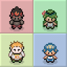 Pokémon SM/USUM Characters and Trainers OW Sprites in Gen III Style